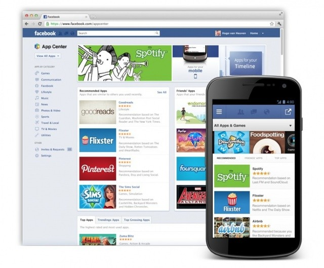 Facebook saca su propia tienda de aplicaciones