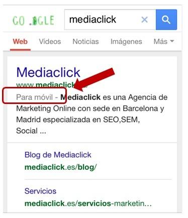 Leyenda para movil de google-mediaclick.es