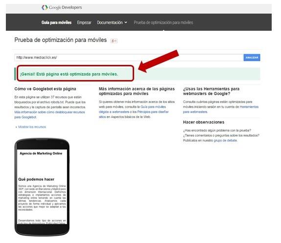 Test google mobile