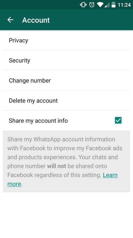 Ajuste WhatsApp