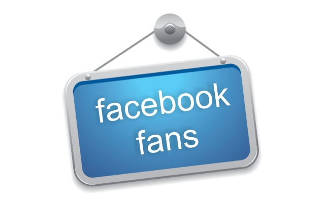"""Cartel con el texto """"Facebook Fans"""""""