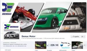 Perfil en Facebook de Demac Motor