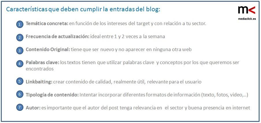 Blog para mejora SEO - mediaclick.es