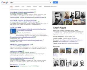 Gaudi- Knowledge graph Google - mediaclick.es