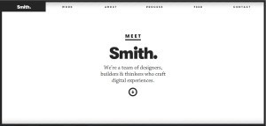 ejemplo web minimalista smith
