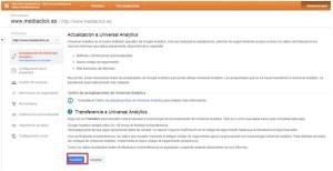 Implementar universal analytics