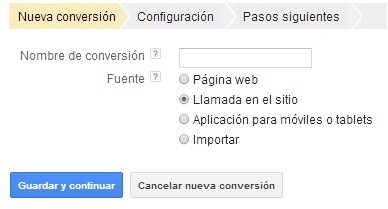 conversion de llamada adwords