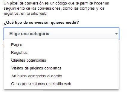 Tipo conversiones facebook ads