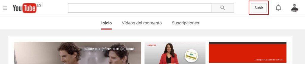 subir vídeo 360 a Youtube