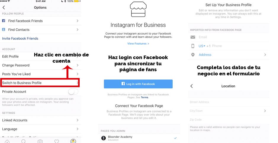 Tutorial para activar Instagram para empresas