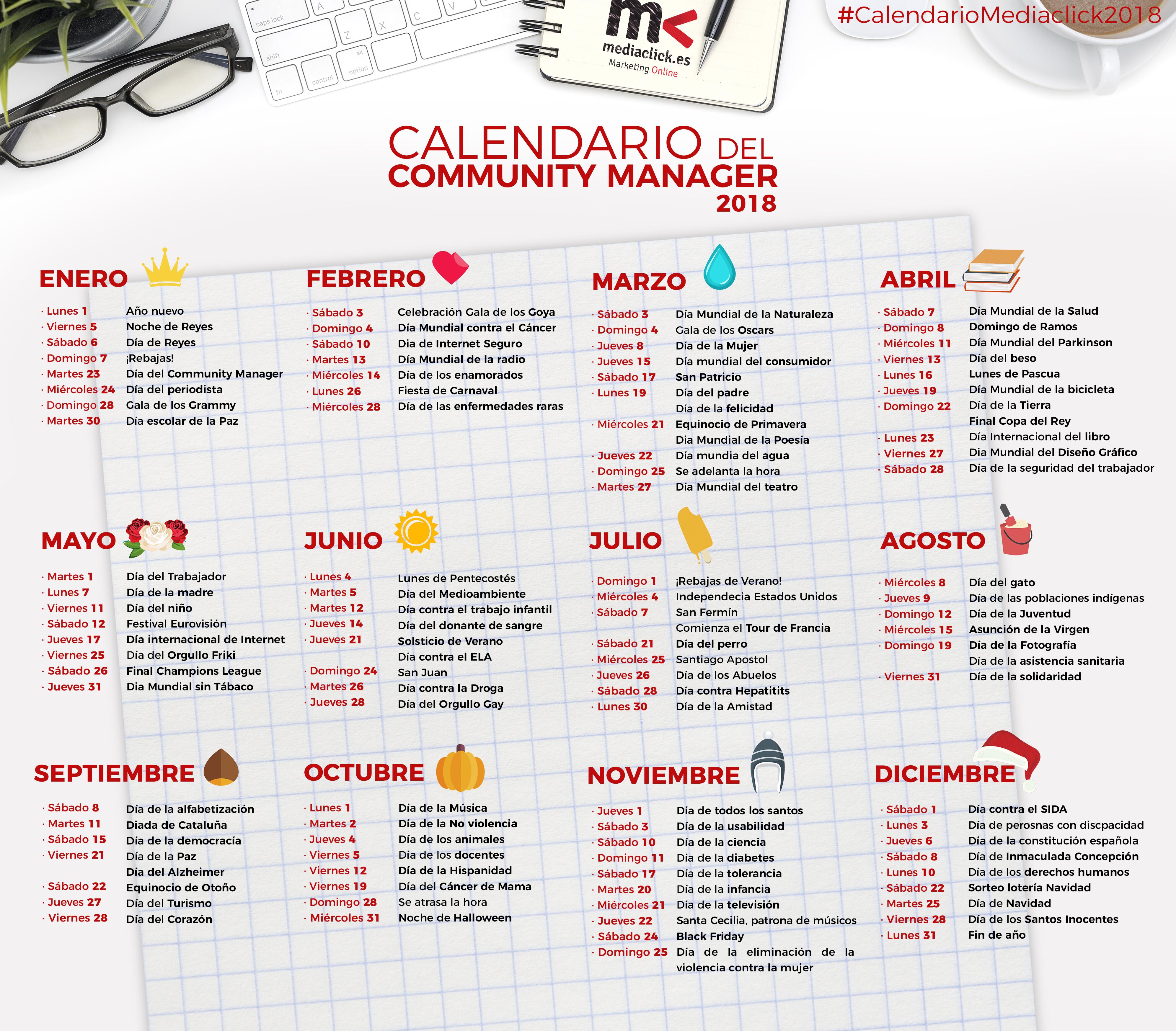 Calendario del community manager 2018 agencia marketing online 360 quieres el calendario en alta calidad descrgatelo thecheapjerseys Image collections