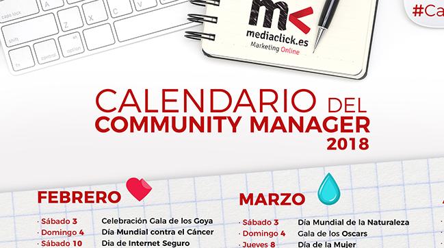 Calendario del Community Manager